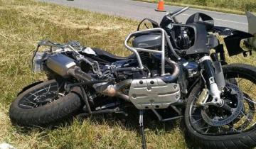 Imagen de Un motociclista resultó herido tras chocar contra un auto en la Ruta 74