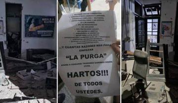 Imagen de Atentaron contra un local del Frente de Todos en Bahía Blanca