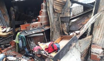 Imagen de Una familia perdió todo por un incendio en su vivienda