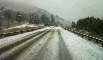 Imagen de Cayó agua nieve en Sierra de la Ventana