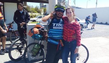 Imagen de Pedaleó desde México para reencontrarse con su novia que vive en Mar del Plata