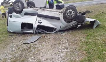 Imagen de Un herido tras un impactante vuelco en la Ruta 11
