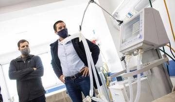 Imagen de Cardozo recorrió la nueva sala de cuidados intensivos para coronavirus