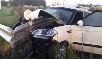Imagen de Autovía 2: un auto atravesó un guardrail y el conductor salvó su vida de milagro