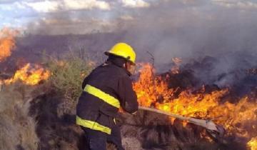 Imagen de Los bomberos de Lezama y Chascomús trabajaron más de tres horas para extinguir un incendio