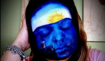 Imagen de El homenaje de la dolorense Geor Chaar a los tripulantes del Ara San Juan