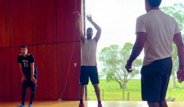 Imagen de Luis Scola entrena en su campo de Castelli con miras al Mundial de básquet