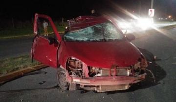 Imagen de Otro accidente en la Ruta 11: dos heridos fueron trasladados al hospital