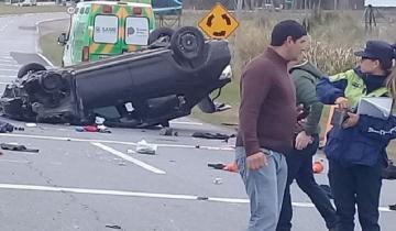 Imagen de Despiste y vuelco en la Ruta 74: un herido de consideración