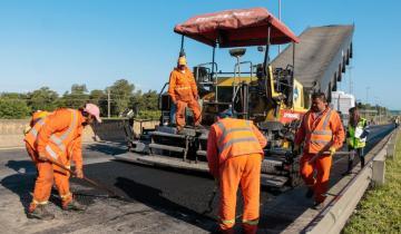 Imagen de Comienzan obras de repavimentación en la Autovía 2 y en la Ruta 63