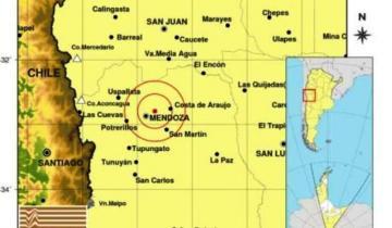 Imagen de Se registró un fuerte temblor en Mendoza