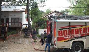 Imagen de Incendio con importantes pérdidas en una vivienda de Villa Gesell