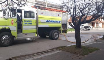 Imagen de Los bomberos sofocaron un incedio en Dolores