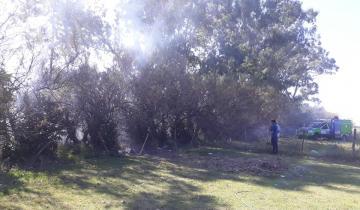 Imagen de Importante incendio en una casa quinta en Dolores