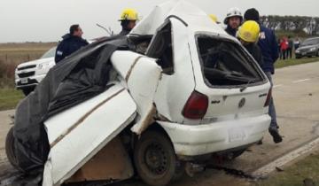 Imagen de Accidente fatal: chocaron un auto y un camión en la Ruta 94
