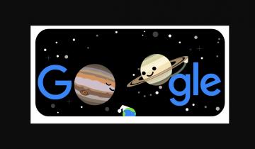 """Imagen de Júpiter y Saturno en el doodle: de qué se trata la """"Gran Conjunción"""""""