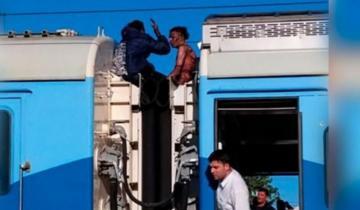 Imagen de Viajaban en el techo de un tren que salió de Mar del Plata y recibieron una descarga de 25 mil voltios