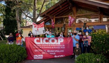 Imagen de Pinamar: protesta de los trabajadores de la salud frente al municipio por aumento salarial