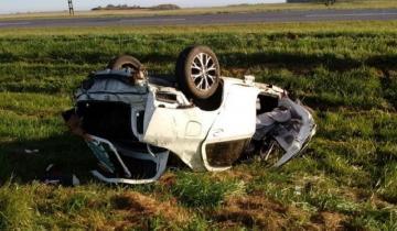 Imagen de Perdió el control y volcó en la Ruta 226: falleció casi en el acto