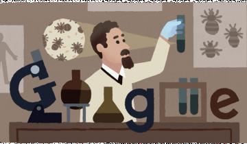 Imagen de Rudolf Weigl, el inventor de la vacuna contra el Tifus, homenajeado en el doodle de Google
