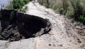Imagen de Continúa el desmoronamiento de los terraplenes del Canal 15 en Castelli