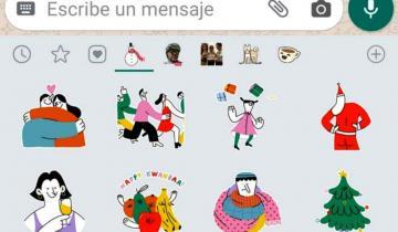 Imagen de WhatsApp lanzó su paquete oficial de stickers para celebrar las fiestas de fin de año