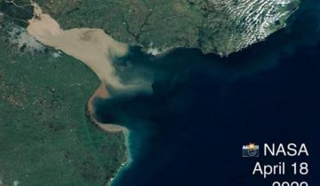 Imagen de Deslumbrante: la increíble foto que sacó la NASA del Río de la Plata