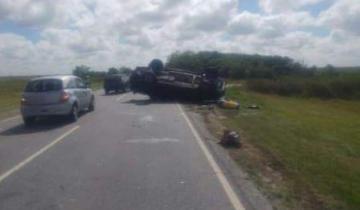 Imagen de Un herido tras un vuelco en la Ruta 11
