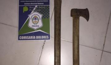 Imagen de Dolores: un hombre amenazó a sus vecinos con un hacha