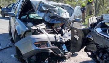 Imagen de Otra vez la Ruta 205: violento choque deja como saldo un herido