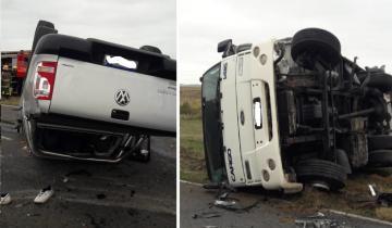 Imagen de Villa Gesell: un choque frontal entre una camioneta y un camión dejó un herido de gravedad