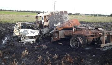 Imagen de Tres vehículos protagonizaron un grave accidente en la Ruta 41