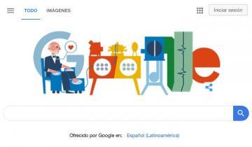 Imagen de Google y un Doodle en el 159° aniversario del nacimiento de Willem Einthoven, el creador del electrocardiograma