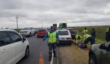 Imagen de Tres heridos tras un accidente en la Ruta 11