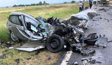 Imagen de Una persona murió tras un tremendo accidente en Trenque Lauquen
