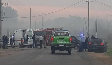 Imagen de Dos heridos en un impresionante choque en cadena en Ezeiza