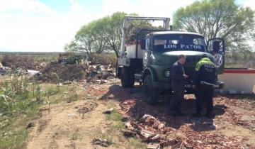 Imagen de General Madariaga: multaron a un camionero por arrojar basura en un terreno