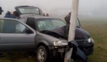 Imagen de Cinco policías heridos tras un accidente en la ruta