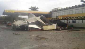 Imagen de Temporal en la región: se registraron voladuras de techos en Chascomús