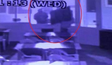 Imagen de Roban en un balneario y quedan registrados por la cámara