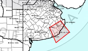 Imagen de Alerta metereológica por tormentas fuertes con ráfagas y ocasional caída de granizo