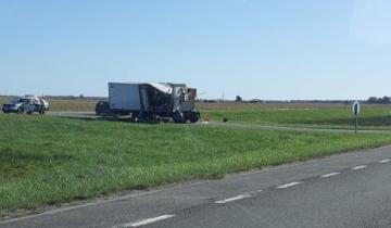 Imagen de Un camionero falleció tras un accidente en la Ruta 2