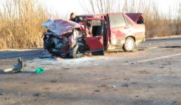 Imagen de Dos muertos y cinco heridos en un choque frontal en Mendoza