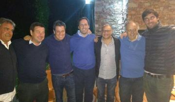 Imagen de Manes cenó con Rodríguez Ponte, Rapallini y demás intendentes