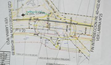 Imagen de Así será la nueva rotonda de acceso a General Lavalle