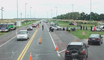 Imagen de Choque en Ruta 11 en el ingreso a Aguas Verdes: hay demoras