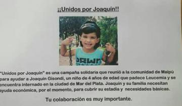 Imagen de Campaña solidaria por un nene de 4 años de Maipú con leucemia