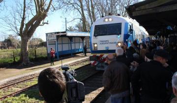 Imagen de El video de la gobernadora Vidal y las fotos de la gran vuelta del tren a la región