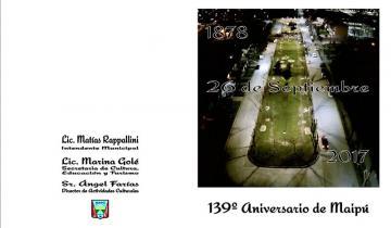 Imagen de Cuatro días para celebrar el 139° aniversario de Maipú