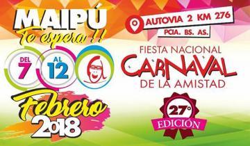 Imagen de Maipú celebra esta semana la 27ª edición del Carnaval de la Amistad